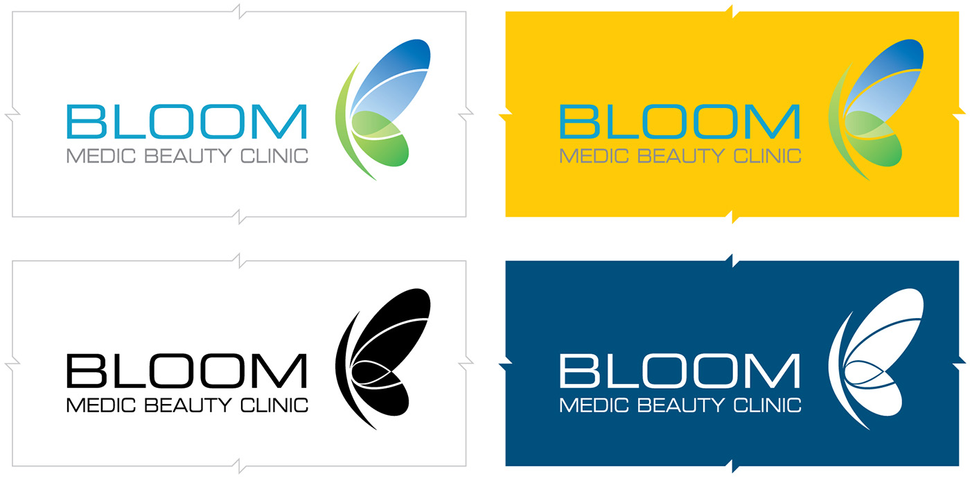 Bloom Medic Beauty Clinic corporate identity system