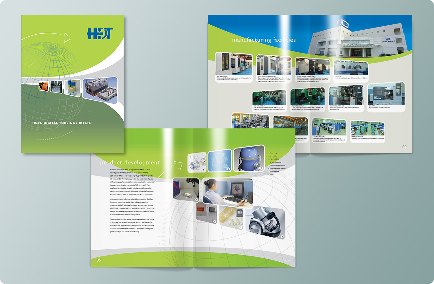 Hoyu Digital Tooling Hong Kong Limited Corporate Brochure Design